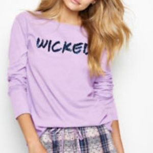 NWT Victoria's Secret Bling Wicked LS T Shirt